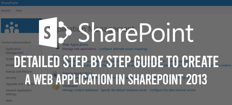 create a web application in sharepoint 2013