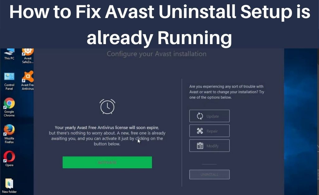 Avast Setup is already Running